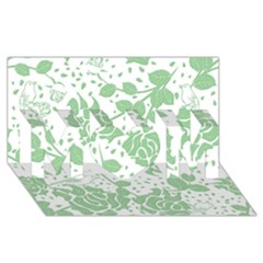 Floral Wallpaper Green Mom 3d Greeting Card (8x4)