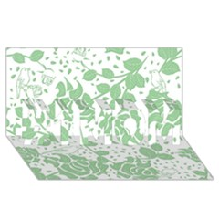 Floral Wallpaper Green #1 Mom 3d Greeting Cards (8x4)
