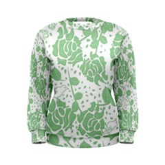 Floral Wallpaper Green Women s Sweatshirts