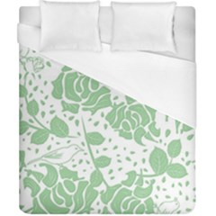 Floral Wallpaper Green Duvet Cover Single Side (Double Size) by ImpressiveMoments