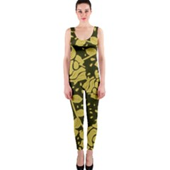 Floral Wallpaper Forest Onepiece Catsuits by ImpressiveMoments