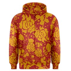 Floral Wallpaper Hot Red Men s Zipper Hoodies