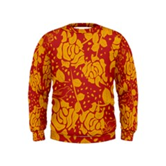 Floral Wallpaper Hot Red Boys  Sweatshirts