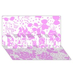 Floral Wallpaper Pink Best Bro 3d Greeting Card (8x4)