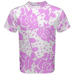 Floral Wallpaper Pink Men s Cotton Tees