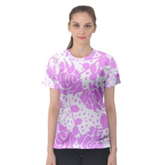 Floral Wallpaper Pink Women s Sport Mesh Tees by ImpressiveMoments