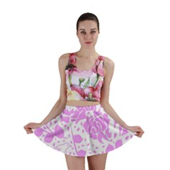 Floral Wallpaper Pink Mini Skirts by ImpressiveMoments