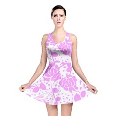 Floral Wallpaper Pink Reversible Skater Dresses by ImpressiveMoments