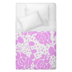 Floral Wallpaper Pink Duvet Cover Single Side (single Size) by ImpressiveMoments