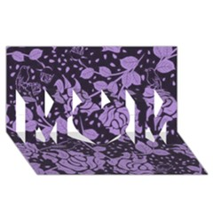 Floral Wallpaper Purple Mom 3d Greeting Card (8x4)