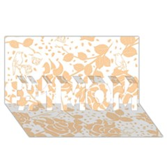 Floral Wallpaper Peach #1 Mom 3d Greeting Cards (8x4)