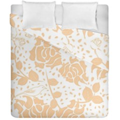 Floral Wallpaper Peach Duvet Cover (Double Size) by ImpressiveMoments