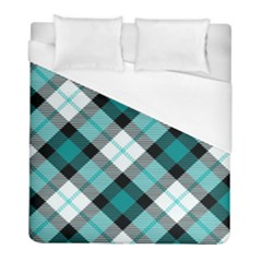 Smart Plaid Teal Duvet Cover Single Side (twin Size) by ImpressiveMoments