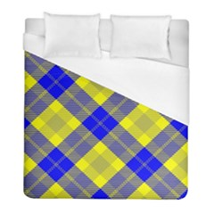 Smart Plaid Blue Yellow Duvet Cover Single Side (twin Size) by ImpressiveMoments
