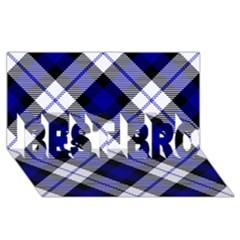 Smart Plaid Blue Best Bro 3d Greeting Card (8x4)