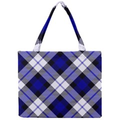 Smart Plaid Blue Tiny Tote Bags