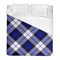 Smart Plaid Blue Duvet Cover Single Side (twin Size) by ImpressiveMoments