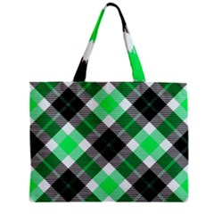 Smart Plaid Green Zipper Tiny Tote Bags