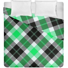 Smart Plaid Green Duvet Cover (king Size) by ImpressiveMoments