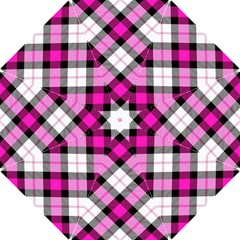 Smart Plaid Hot Pink Hook Handle Umbrellas (small)