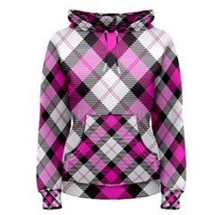Smart Plaid Hot Pink Women s Pullover Hoodies by ImpressiveMoments