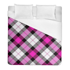 Smart Plaid Hot Pink Duvet Cover Single Side (twin Size) by ImpressiveMoments