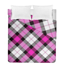 Smart Plaid Hot Pink Duvet Cover (twin Size) by ImpressiveMoments
