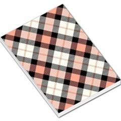 Smart Plaid Peach Large Memo Pads