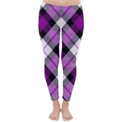 Smart Plaid Purple Winter Leggings by ImpressiveMoments