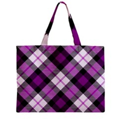 Smart Plaid Purple Zipper Tiny Tote Bags by ImpressiveMoments