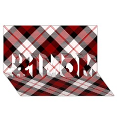 Smart Plaid Red #1 Mom 3d Greeting Cards (8x4)  by ImpressiveMoments