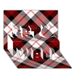 Smart Plaid Red Get Well 3d Greeting Card (7x5)