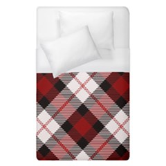 Smart Plaid Red Duvet Cover Single Side (single Size)