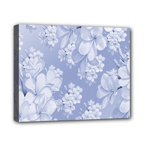 Delicate Floral Pattern,blue  Canvas 10  X 8  by MoreColorsinLife