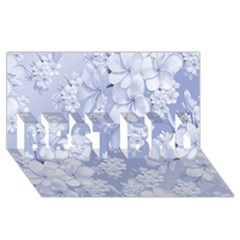 Delicate Floral Pattern,blue  Best Bro 3d Greeting Card (8x4)  by MoreColorsinLife