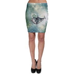 Funny Dswimming Dolphin Bodycon Skirts
