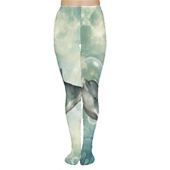 Funny Dswimming Dolphin Women s Tights
