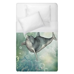 Funny Dswimming Dolphin Duvet Cover Single Side (single Size)