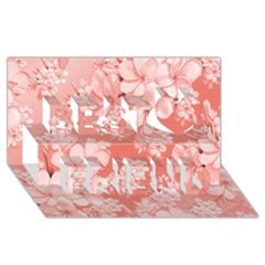 Delicate Floral Pattern,pink  Best Friends 3d Greeting Card (8x4)
