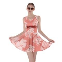 Delicate Floral Pattern,pink  Skater Dresses