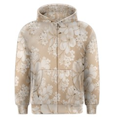 Delicate Floral Pattern,softly Men s Zipper Hoodies by MoreColorsinLife