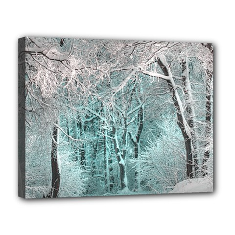 Another Winter Wonderland 2 Canvas 14  X 11  by MoreColorsinLife