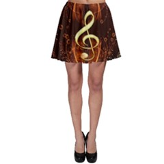 Decorative Cllef With Floral Elements Skater Skirts by FantasyWorld7