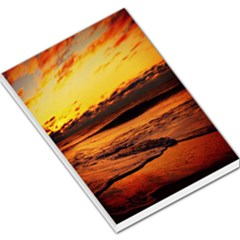 Stunning Sunset On The Beach 2 Large Memo Pads