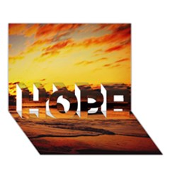 Stunning Sunset On The Beach 2 Hope 3d Greeting Card (7x5)