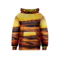 Stunning Sunset On The Beach 2 Kid s Pullover Hoodies by MoreColorsinLife