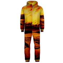 Stunning Sunset On The Beach 2 Hooded Jumpsuit (Men)  by MoreColorsinLife