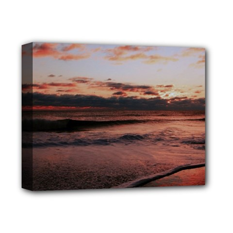 Stunning Sunset On The Beach 3 Deluxe Canvas 14  x 11  by MoreColorsinLife