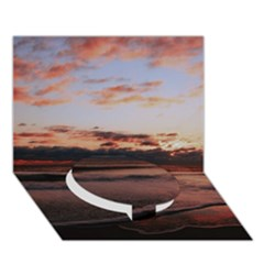 Stunning Sunset On The Beach 3 Circle Bottom 3d Greeting Card (7x5)