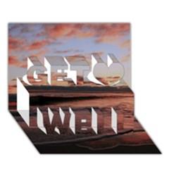 Stunning Sunset On The Beach 3 Get Well 3d Greeting Card (7x5)
